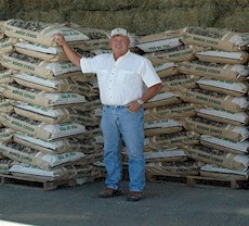 Melvin Neugebauer, owner of Manzanola Feeds, producer of TOP OF THE ROCKIES Horse Cubes, Mini Cubes, and Alfalfa Pellets.